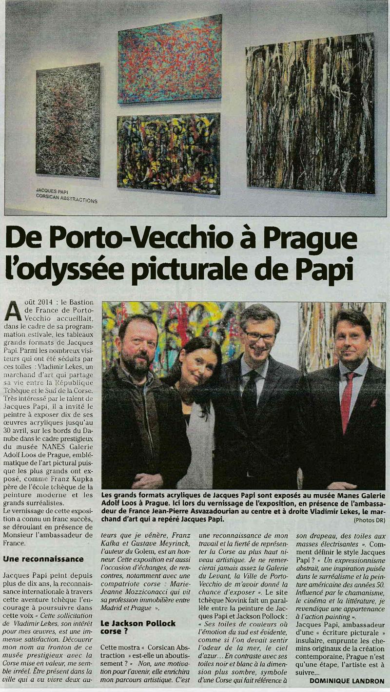 9001 Dominique Landron: De Porto-Vecchio à Prague, l'odyssée picturale de Papi