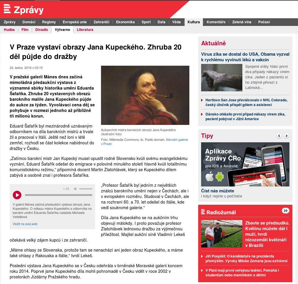 8989 Český Rozhlas, 24. 1. 2016