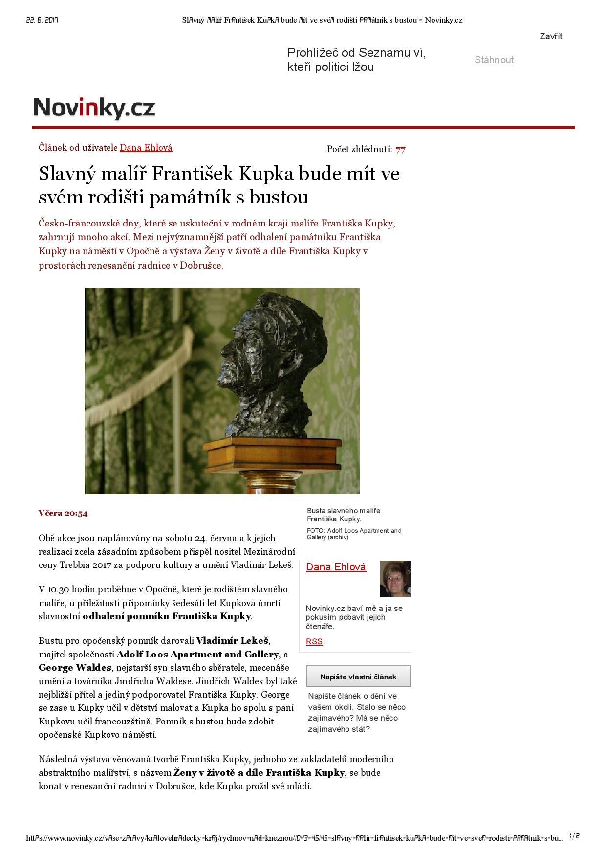 Novinky.cz, 21.6.2017, str. 1