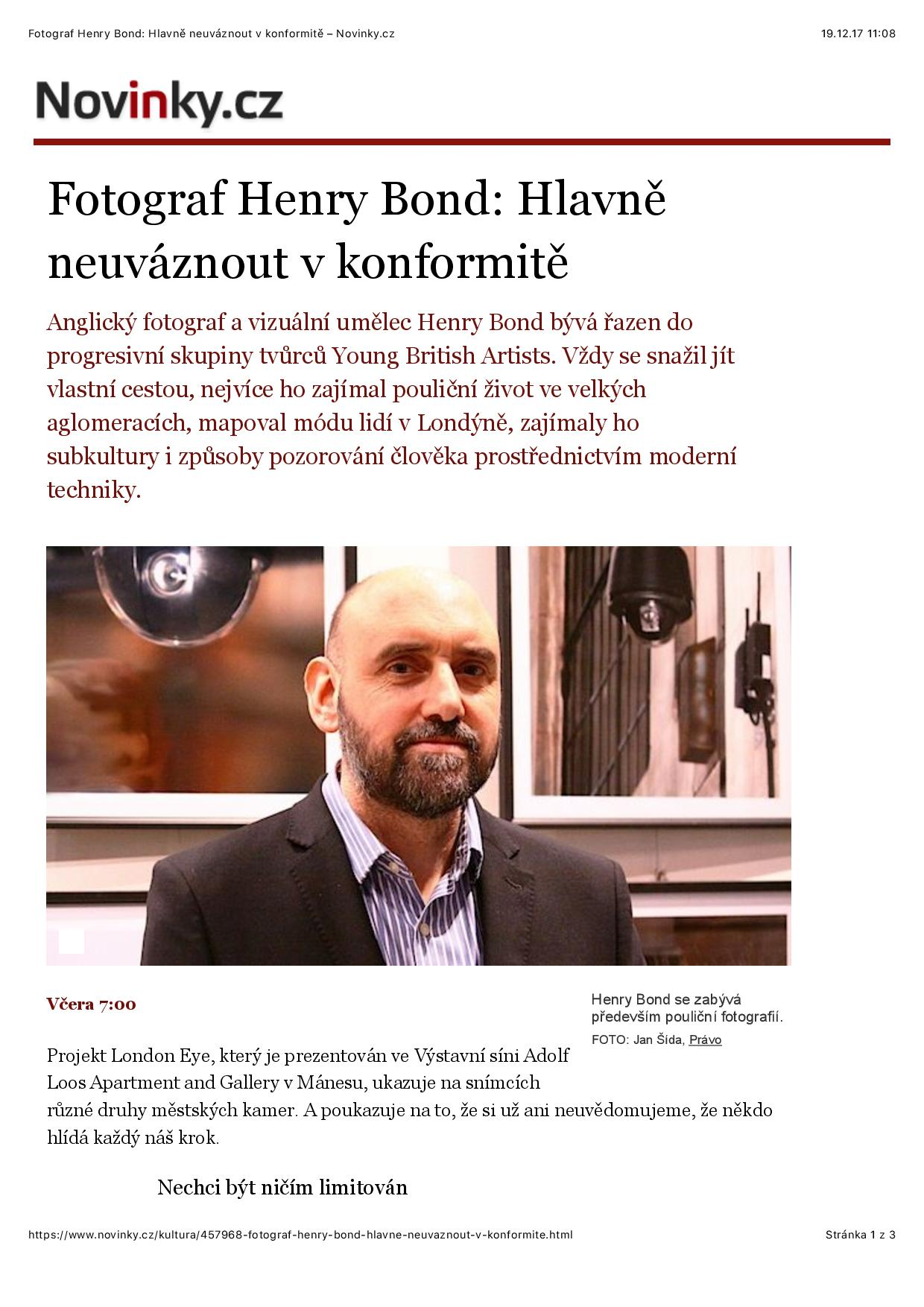 Novinky.cz, rozhovor Henry Bond, str. 1