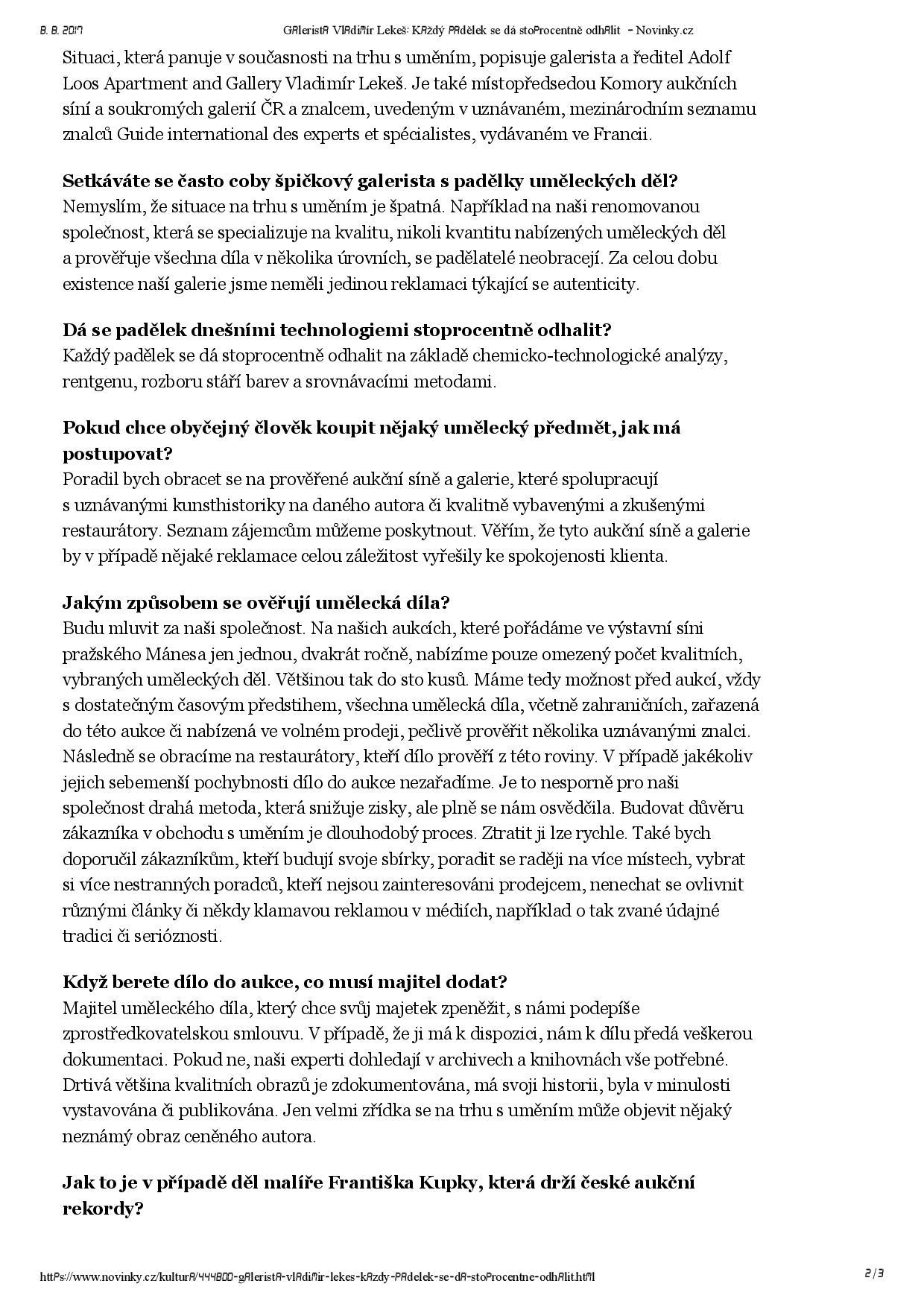 Novinky.cz, 29.7.2017, str. 2