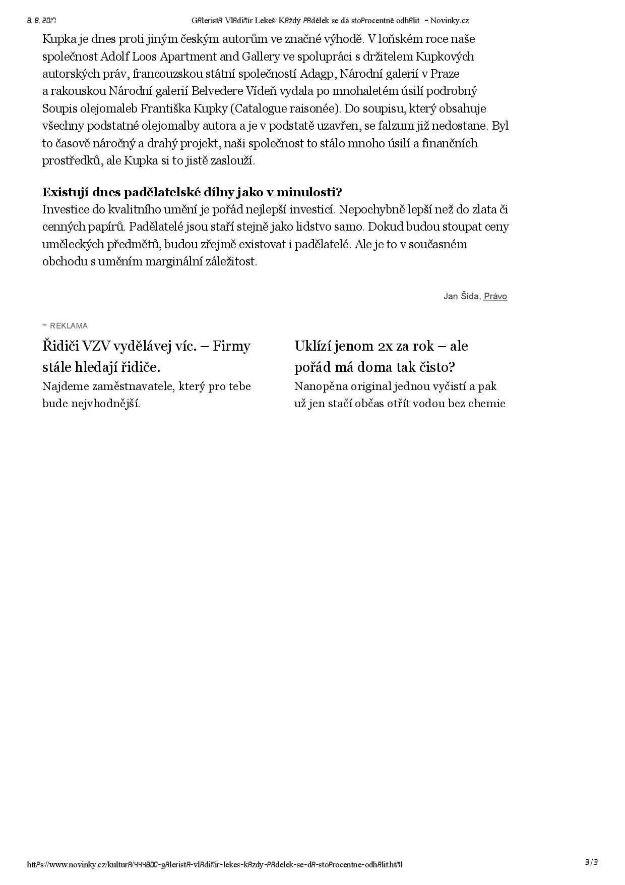 Novinky.cz, 29.7.2017, str. 3