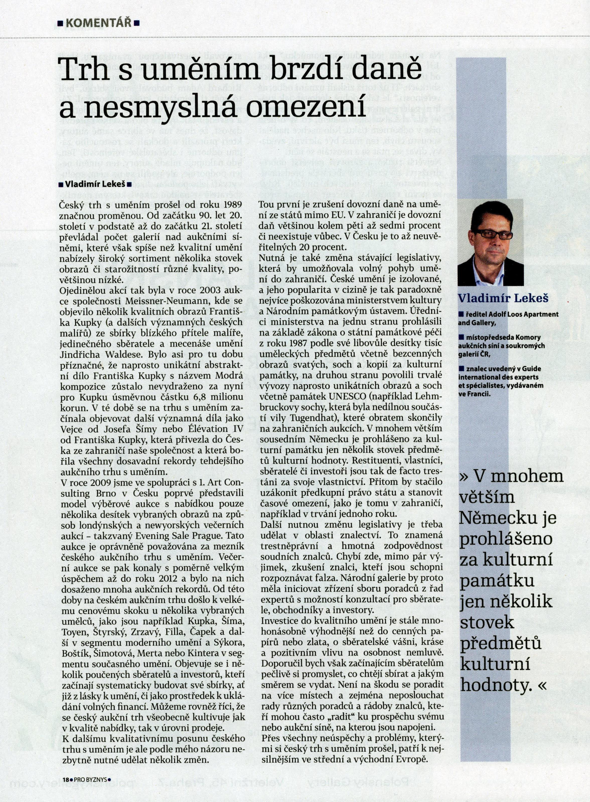 Hospodářské noviny, příloha Pro Byznys