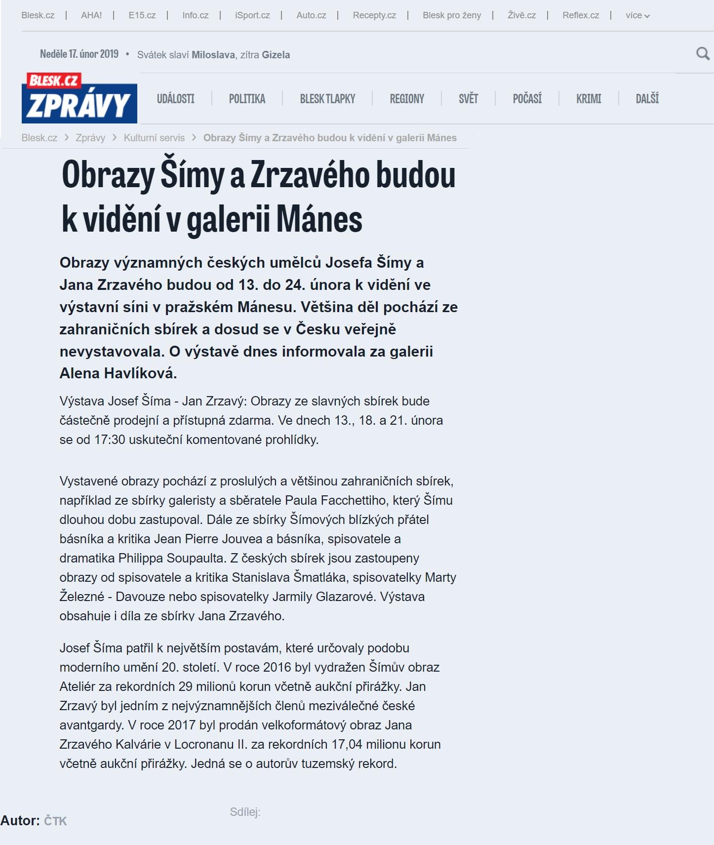 Blesk.cz, 17.2.2019