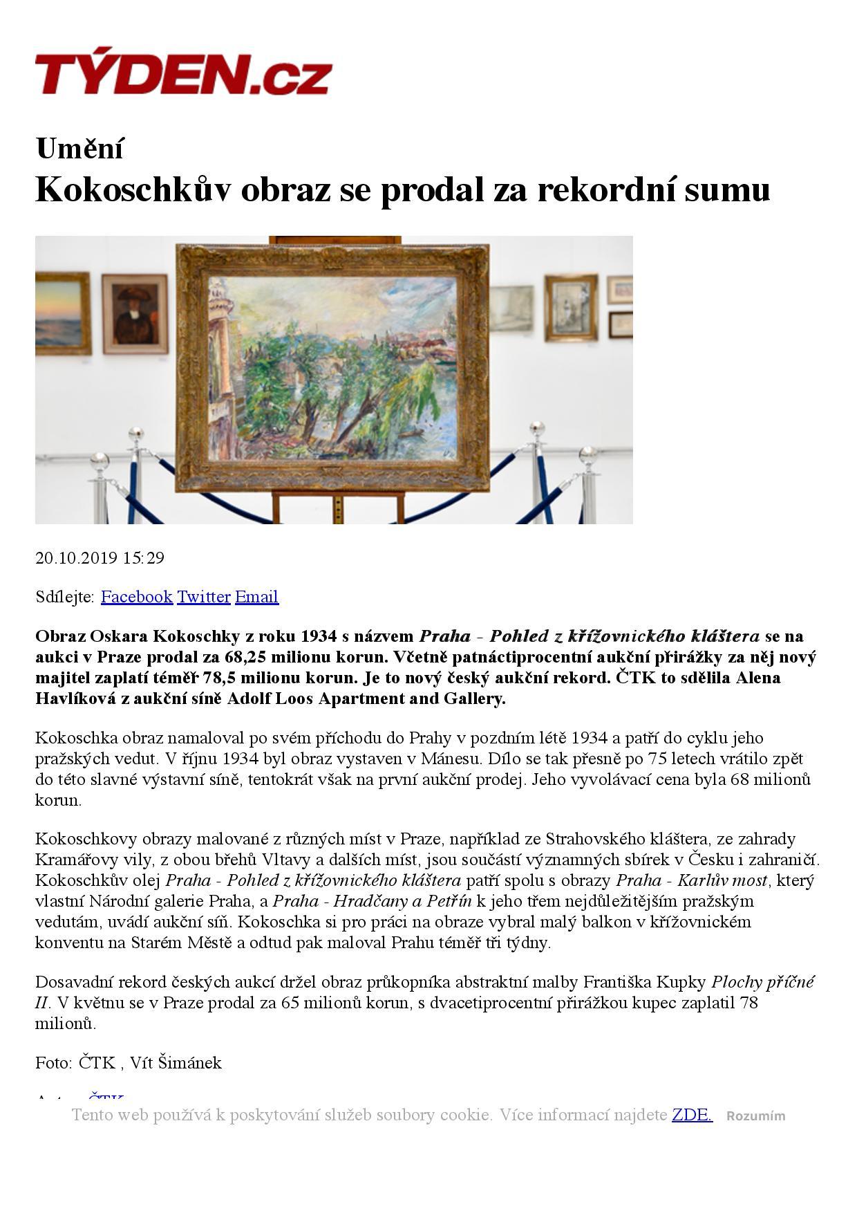 Týden.cz, 20/10/2019