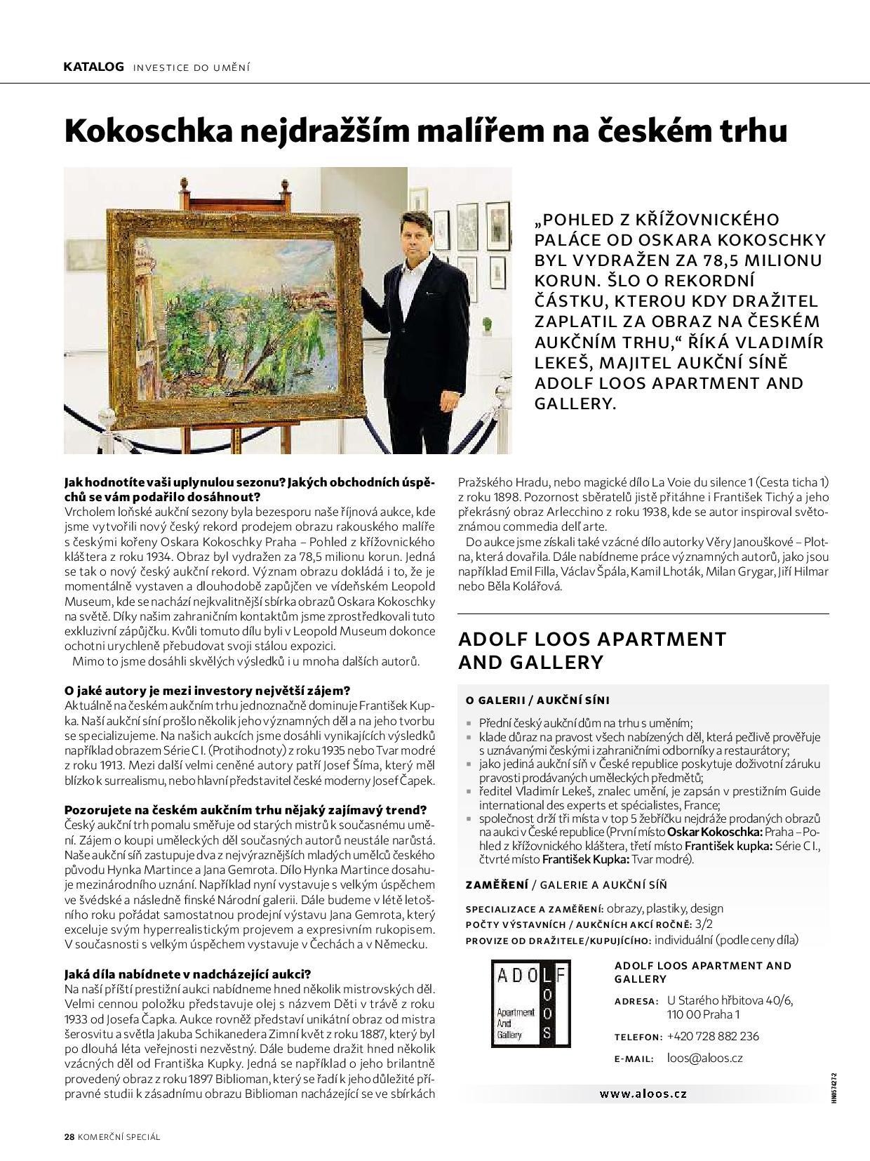 Investice do umění, 23.3.2020