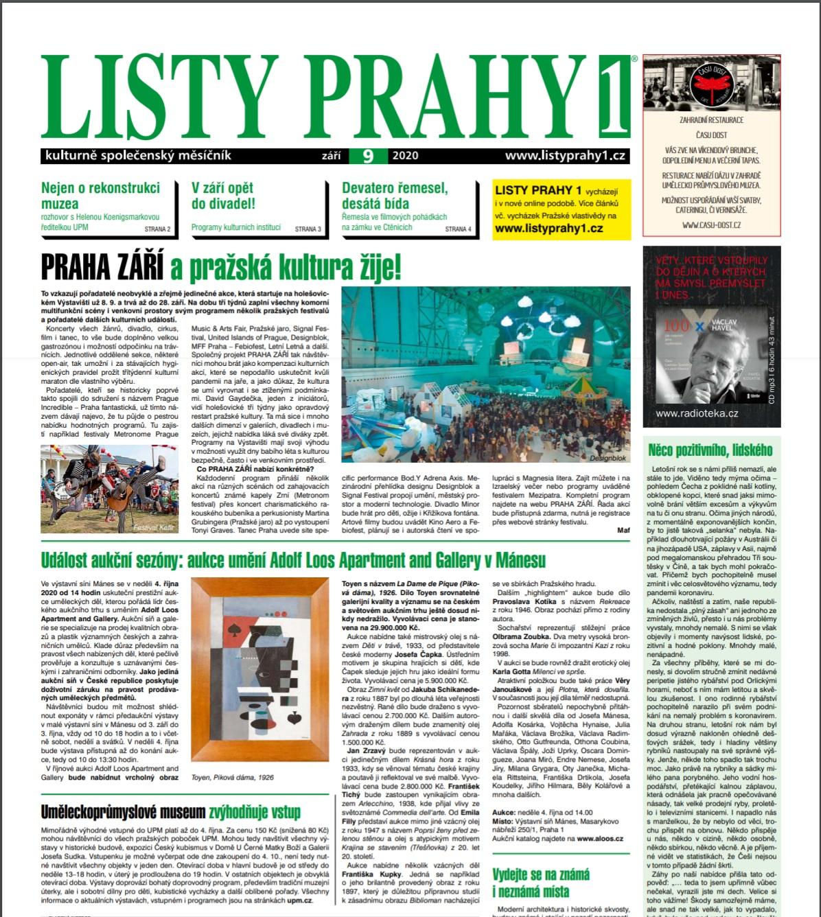 Listy Prahy, 1.9. 2020