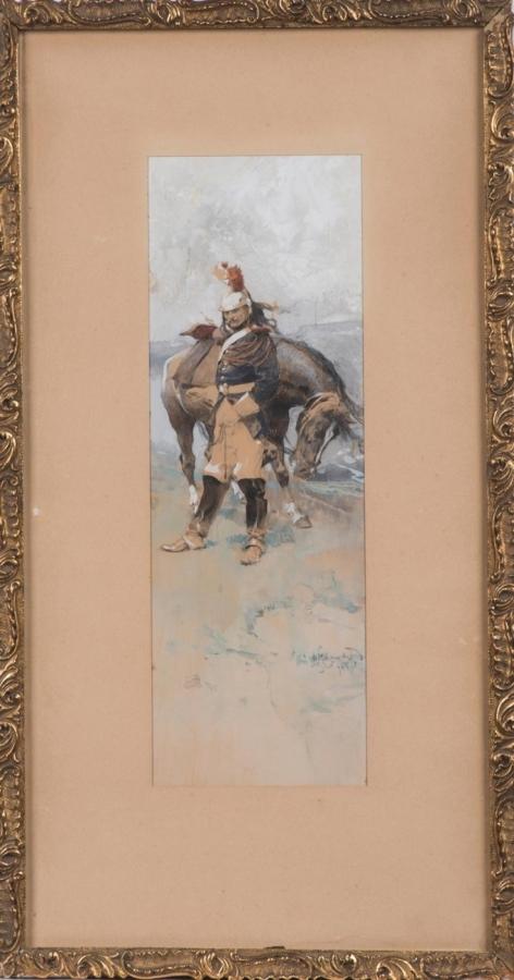 Dragoun s koněm