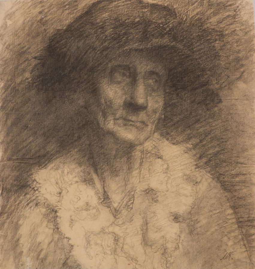 Portrét staré ženy, pravděpodobně matky