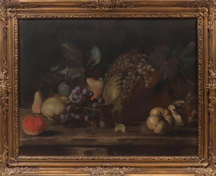 Zátiší s ovocem na stole