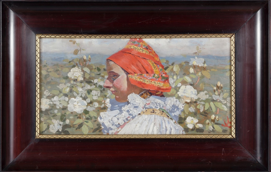 Dívka v bílých růžích