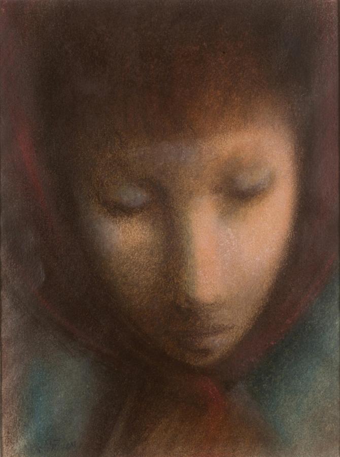 Portrét dívky / Zádumčivá (oboustranný obraz)