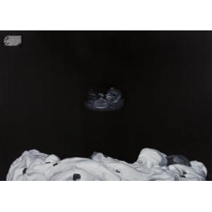 The Boat on The Moon, 2017, oil on canvas, 170 x 240 cm, (CENA NA VYŽÁDÁNÍ)