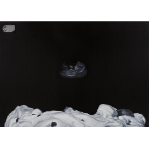 The Boat on The Moon, 2017, oil on canvas, 170 x 240 cm, (PRICE ON REQUEST)