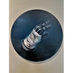 Dotyk II, 2020, olej na plátně, cena: 100 000 Kč