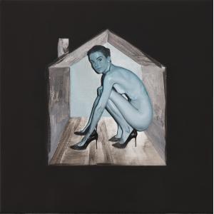 Karanténa, 2020, olej na plátně, cena: 60 000 Kč