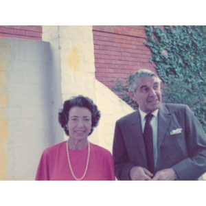 The original owners of the apartment, Richard Hirsch with his wife Marieluis.
