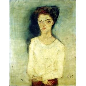 Portrait of Martha Hirsch by Oskar Kokoschka from 1909, Neue Galerie New York