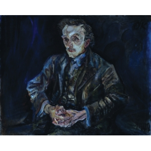 Portrait of Adolf Loos by Oskar Kokoschka from 1909, The National Gallery Berlin