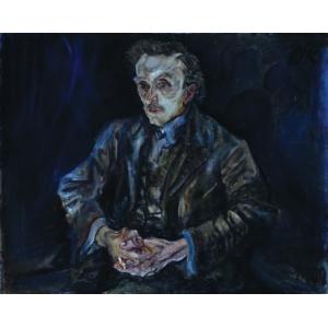 Portrait of Adolf Loos by Oskar Kokoschka from 1909, The National Gallery Berlin