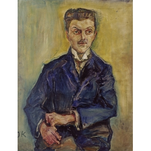 Portrait of Wilhelm Hirsch (father of Richard Hirsch) by Oskar Kokoschka from 1909, National Gallery Berlin
