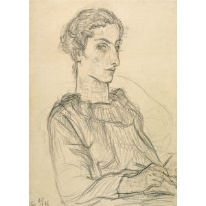 Portrait, probably of Martha Hirsch, by Oskar Kokoschka from 1916, The National Gallery Berlin