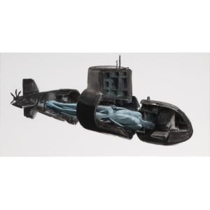 Ponorka, 2020, olej na plátně, PRODÁNO