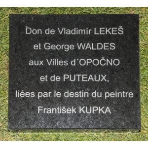 The Donation Memorial Plate of Kupka's Monument in Paris - Puteaux