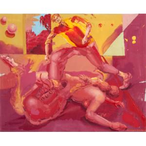 RITTSTEIN MICHAEL, VELKÝ KROK, 2017, akryl na plátně