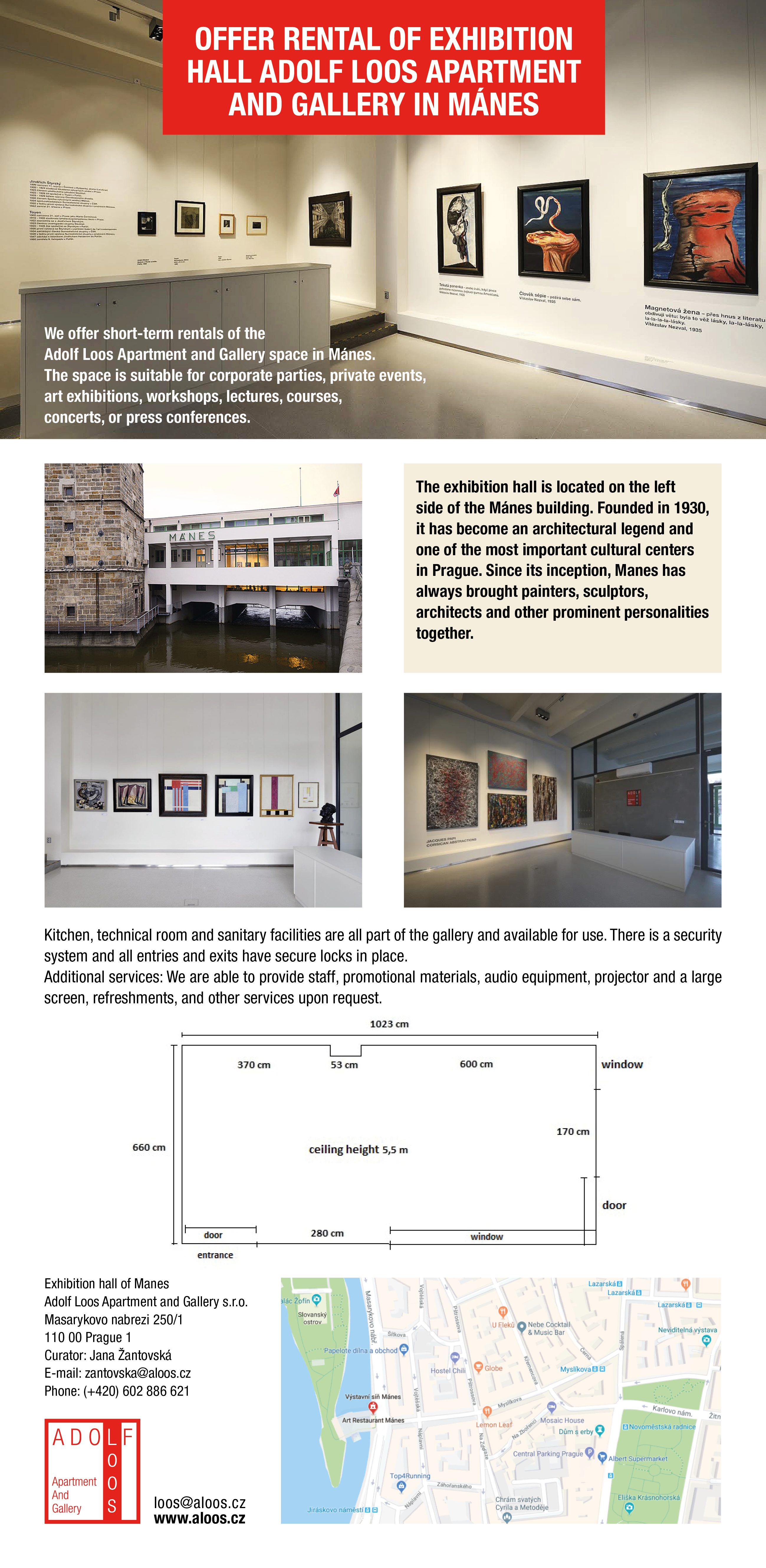 Exhibition space for rent